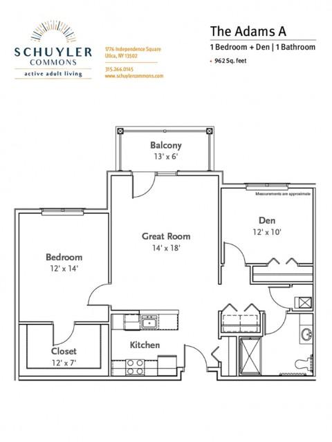 Adams A floor plan