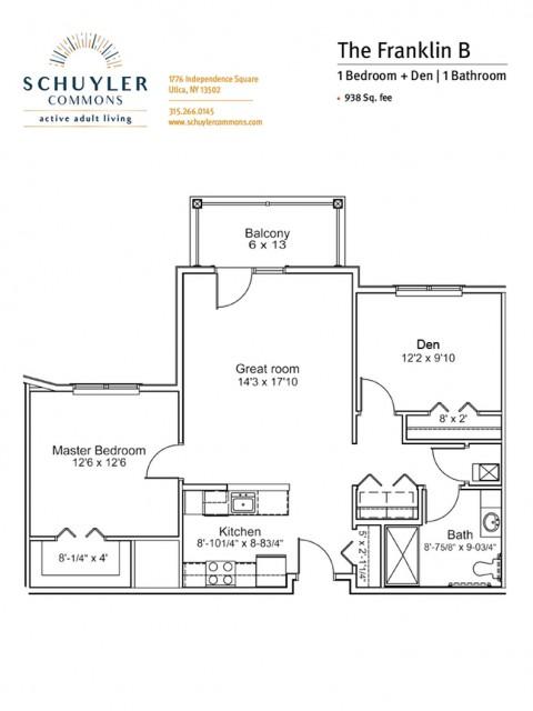 Franklin B floor plan