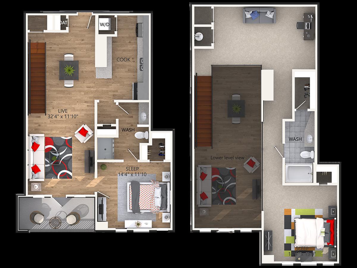 2 Bedroom, Including a Den
