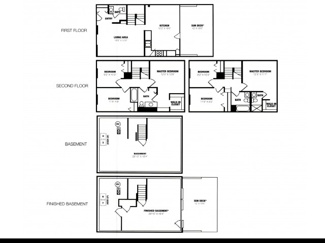 3 Bed 2 5 Bath Unfinished Basement 3 Bed Apartment Eland Downe