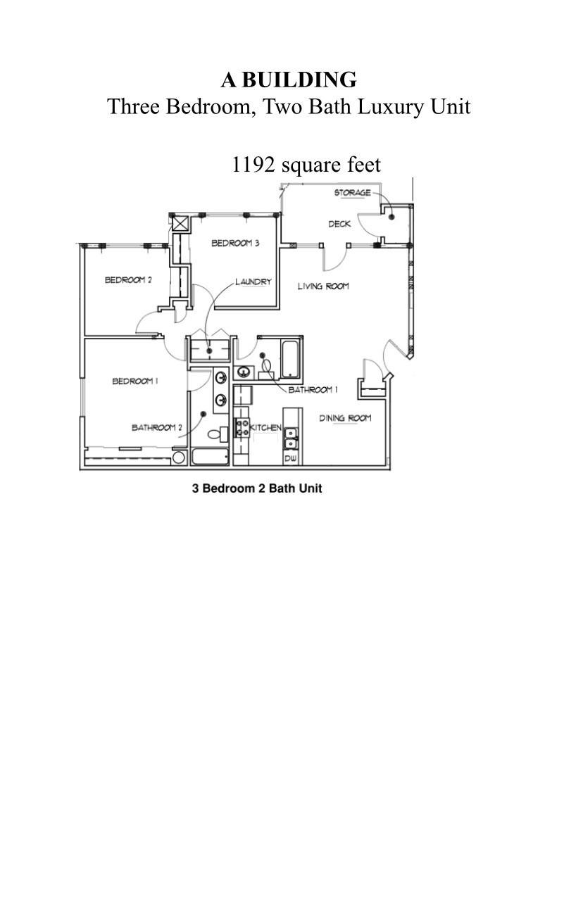Three Bedroom, Two Bath (Cascade Ridge II)