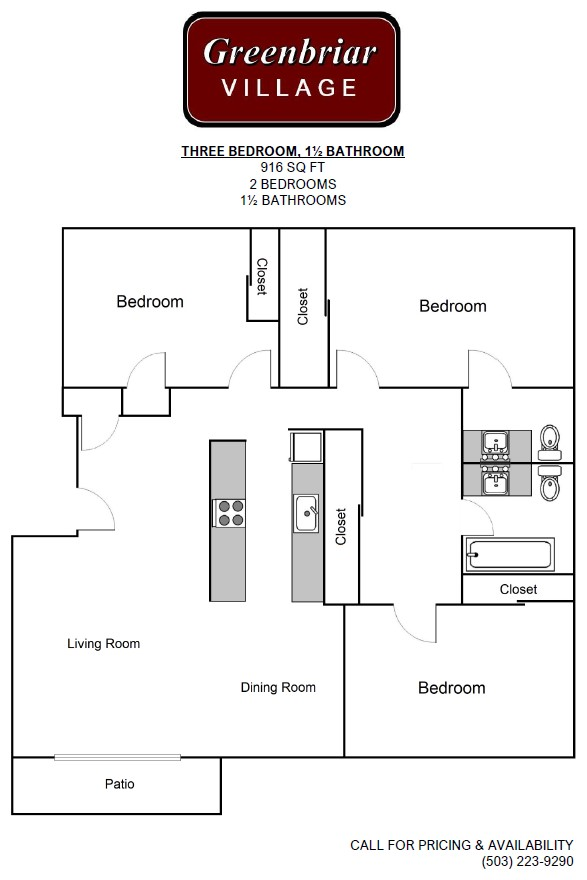 Three Bed Floorplan
