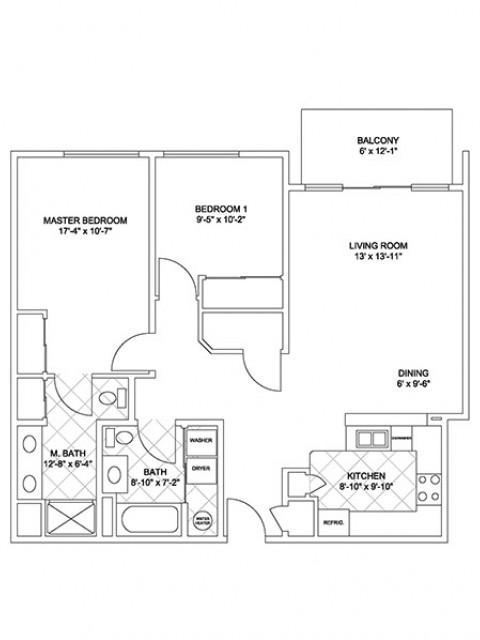 Luxury Two Bedroom (Cascade Ridge)