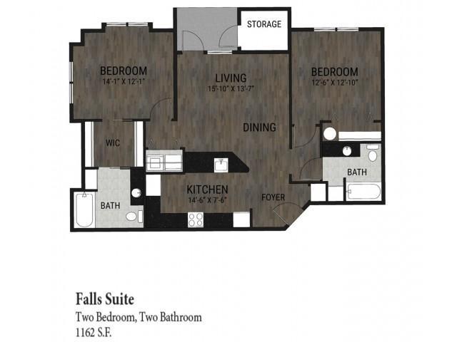 2 Bedroom - Falls Suite