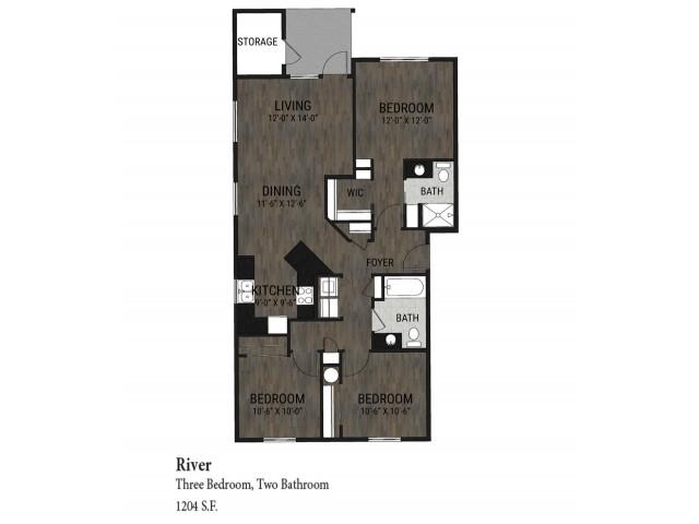 3 Bedroom - River