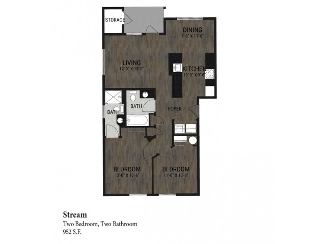 Stream - 2 Bedroom