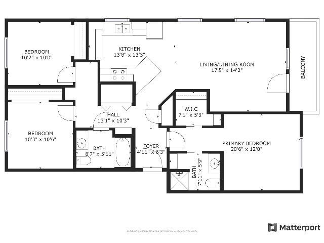 floor plan, 3x2