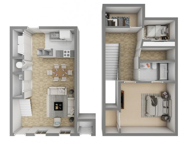 3 Bedroom / 1.5 Bathrooms