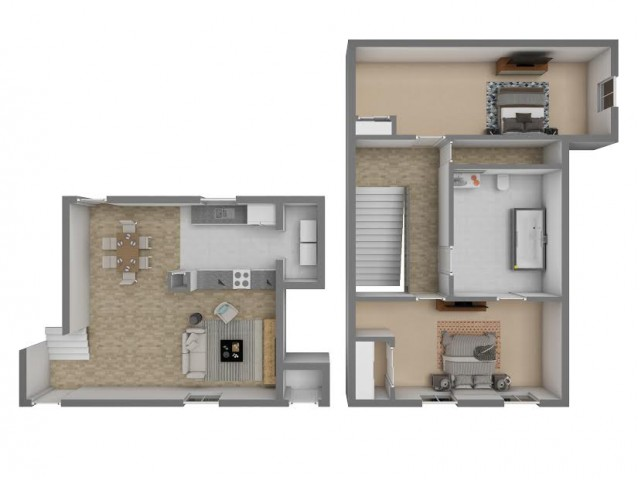 2 Bedroom / 1 Bathroom
