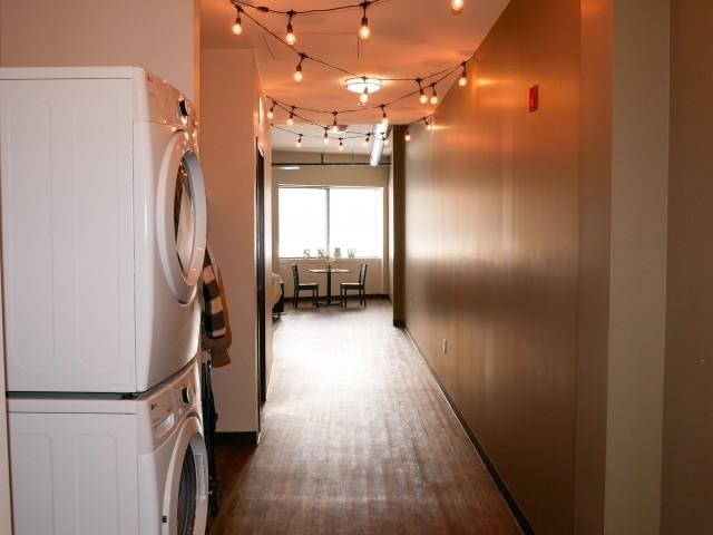 2x2 Loft Hallway   The Union at Dearborn   Dearborn Apartments