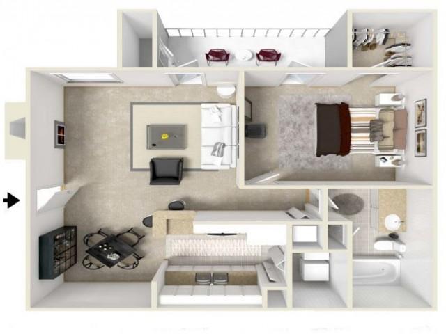 One Bedroom & One Bathroom
