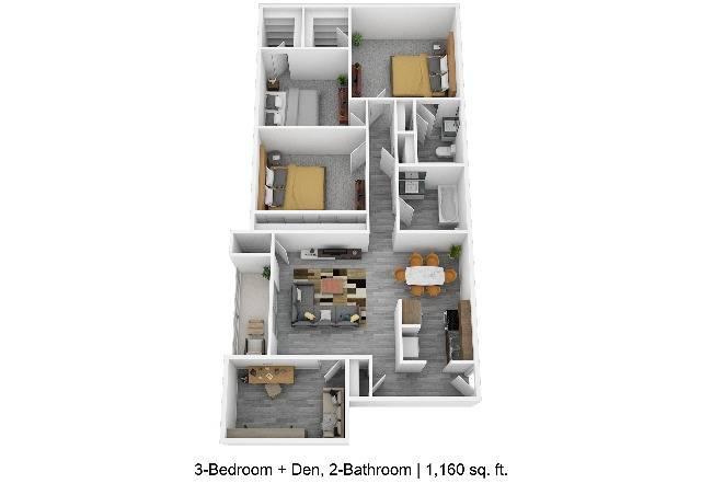 3-Bedroom w Den