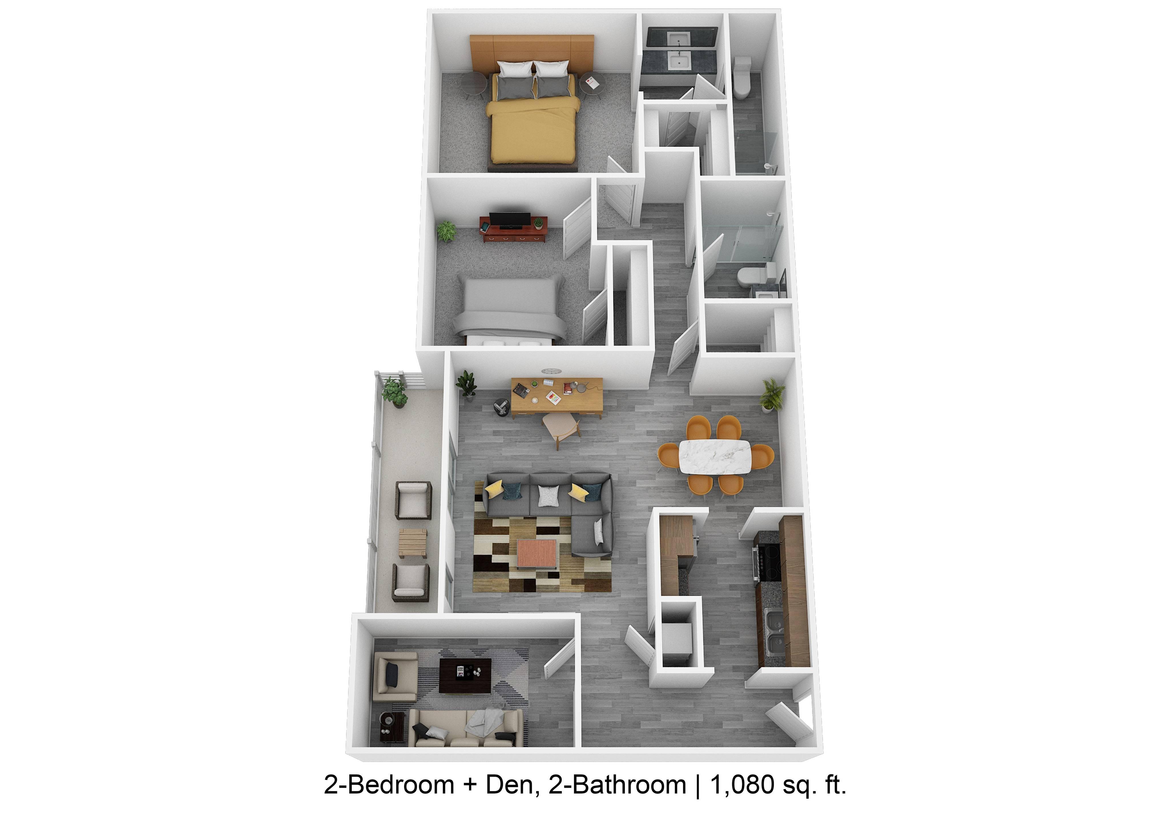 2-Bedroom w Den