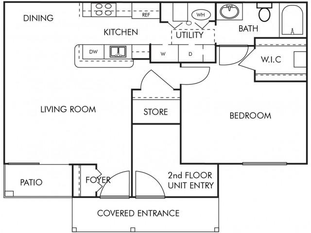 1 Bed 1 Bath- 1st Floor