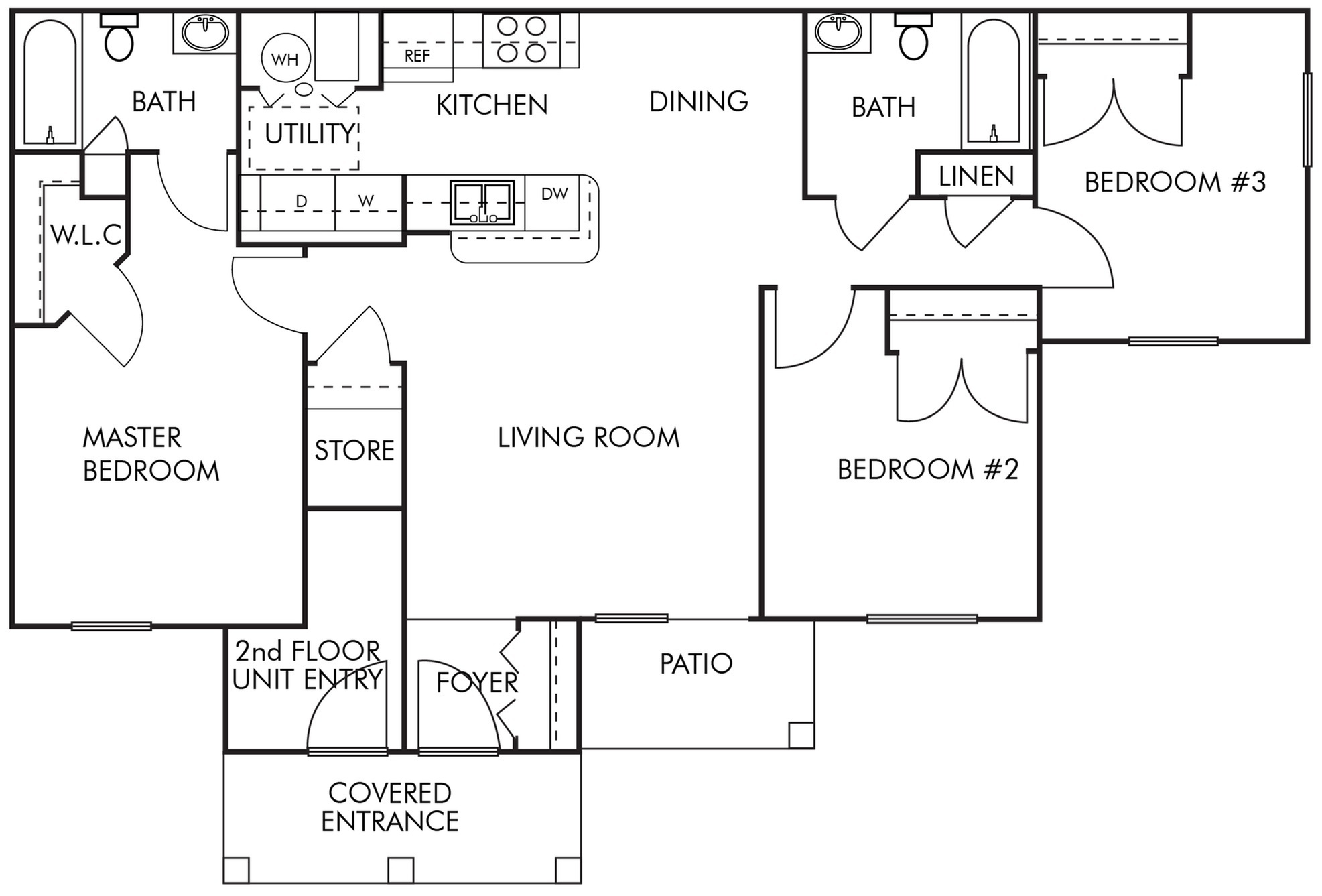 3 Bed 2 Bath- 1st Floor