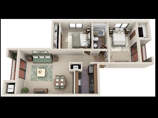 Club Valencia 2x1 790 sq ft