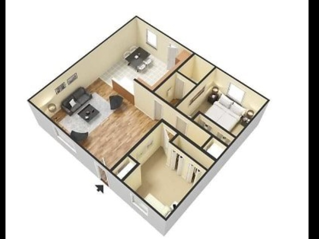 Haven on the Rails B1U Two Bedroom One Bath