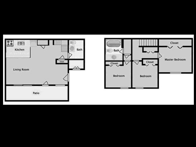 Midtown on Seneca D1 Three Bedroom