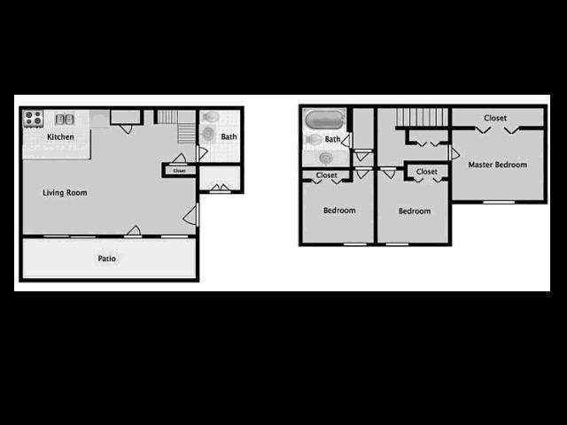 Midtown on Seneca D1P Three Bedroom
