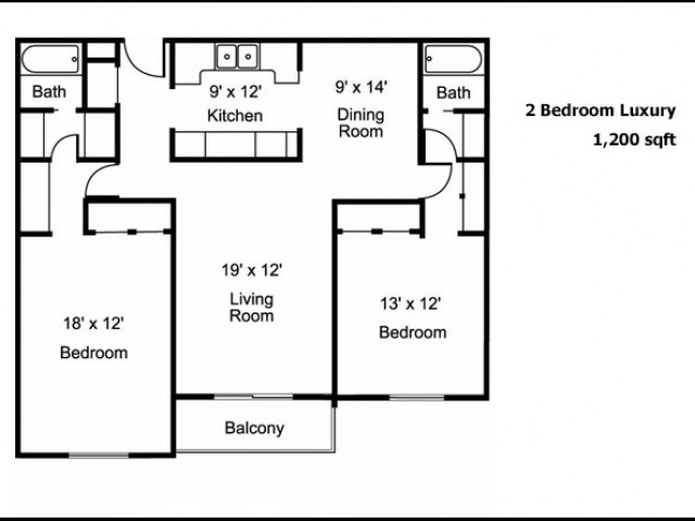 2 Bed and 2 Bath Luxury
