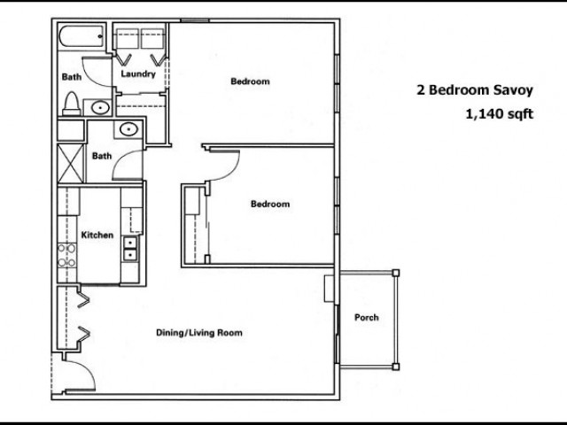 Savoy 2 Bed and 2 Bath
