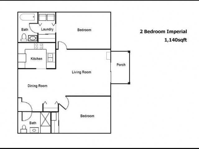 Imperial 2 Bed and 2 Bath