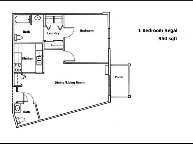 Regal- 1 Bedroom 1.5 Bath