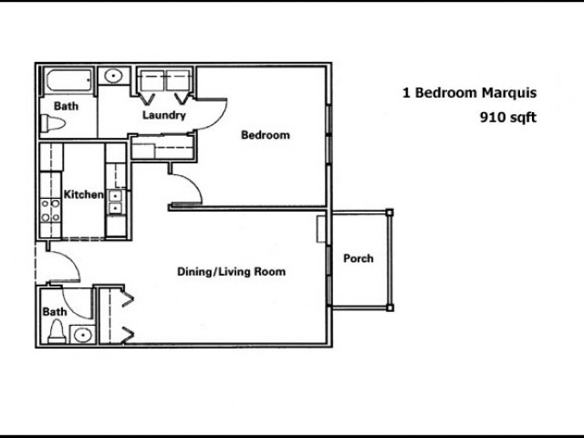Marquis- 1 Bed & 1.5 Bath