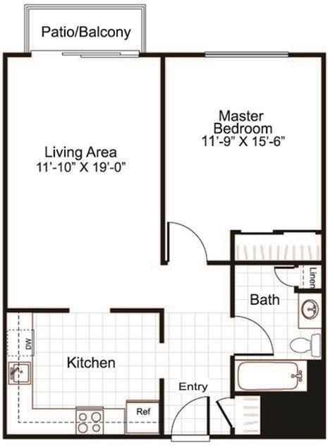 Floor Plan 2 | Apartment in Manchester, NH | Greenview Village Apartments