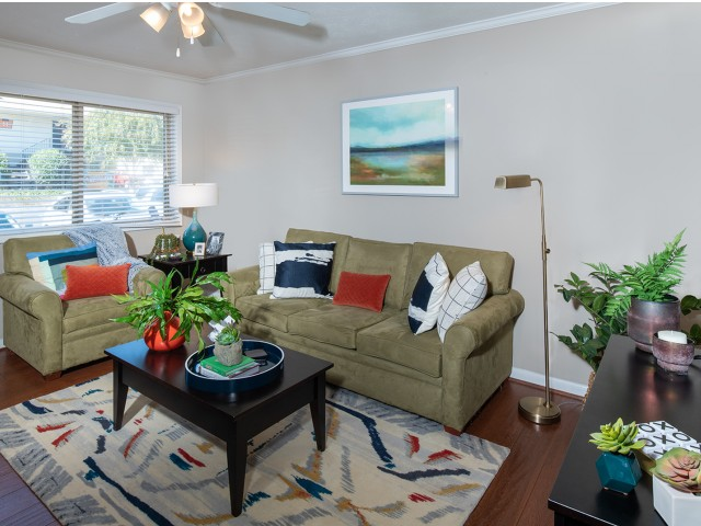 Large Common Areas with Wood-style Flooring | Eagles West | Apartments Near Auburn University