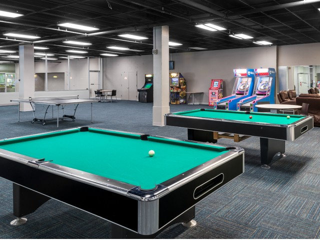 Resident Pool Table | University Plaza  | Student Apartments in DeKalb IL