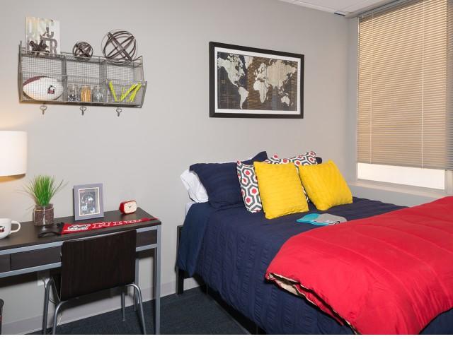 Spacious Bedroom | University Plaza  | Northern Illinois University Apartments