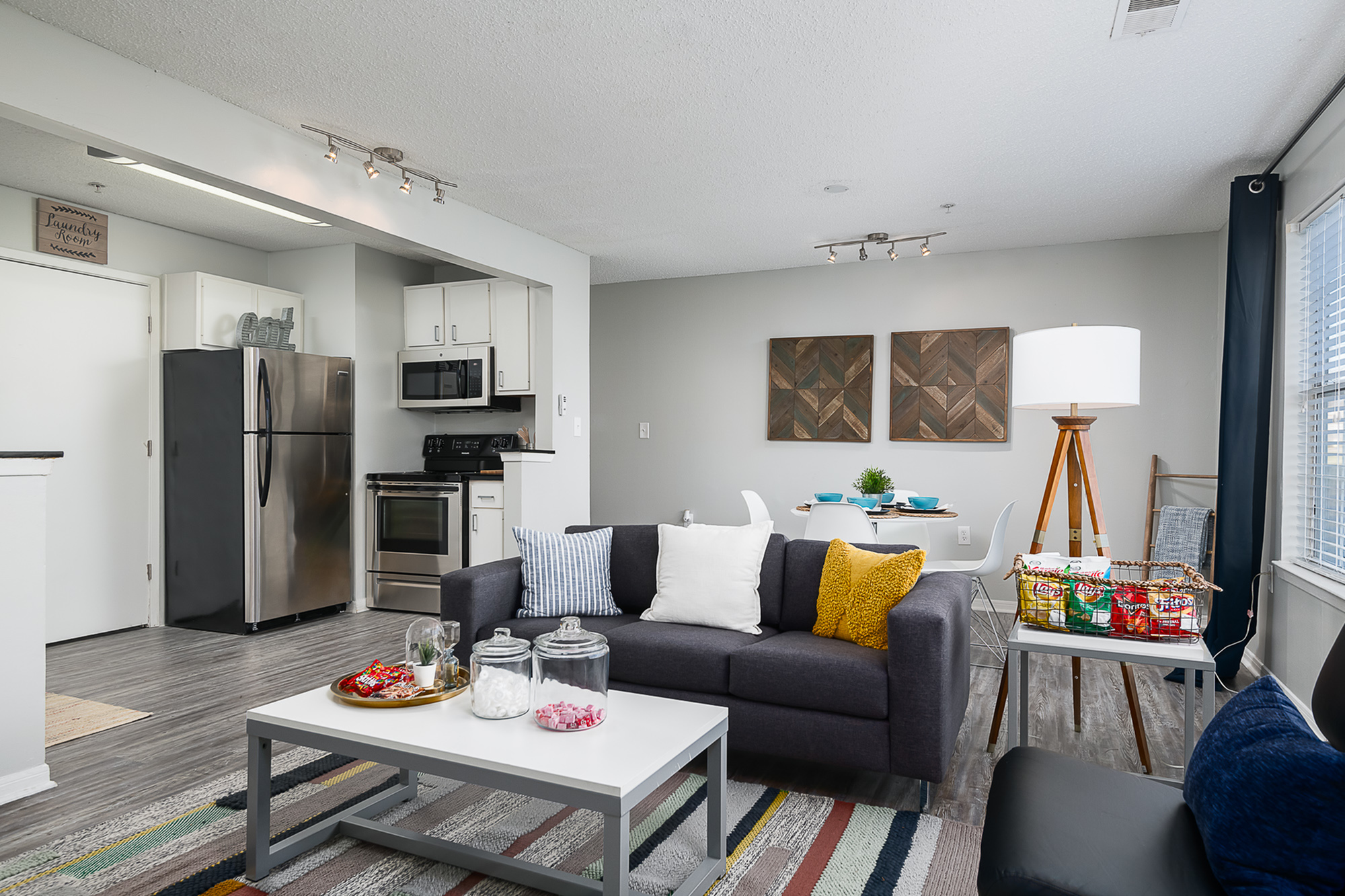 Furnished living area at The Mark at Lexington