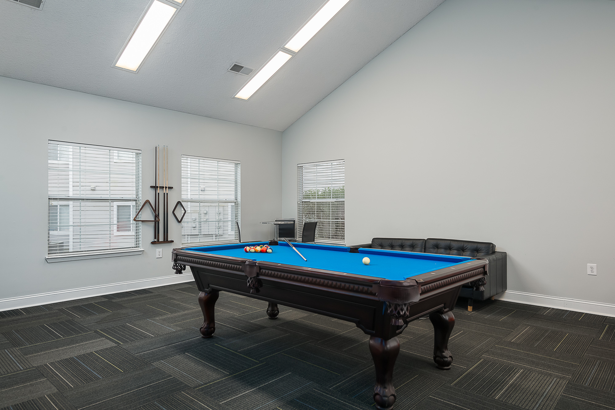 Billiard table in the clubhouse at The Mark at Lexington