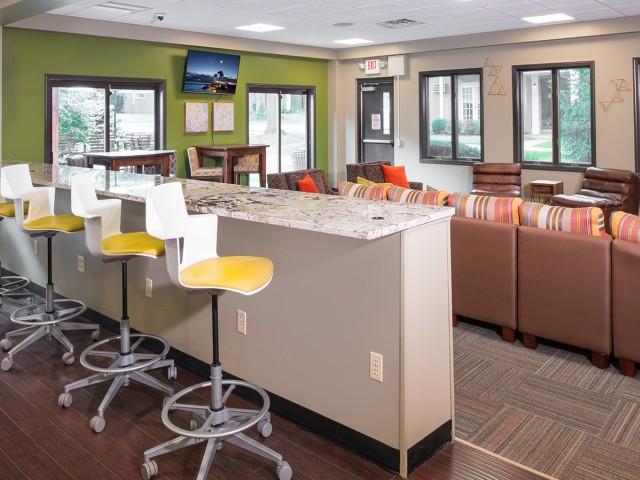 Resident Coffee Bar | University Oaks | One Bedroom Apartments Kent Ohio