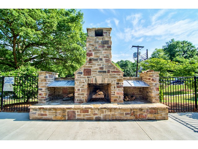 OUtdoor Fireplace | University Apartments Durham | Apartments In Durham NC