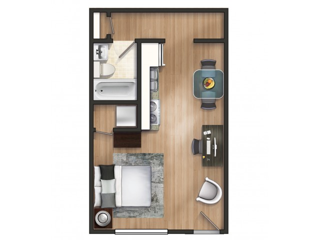 A1 Floor Plan | Floor Plan 1 | University Apartments Durham | Apartments Near Duke University