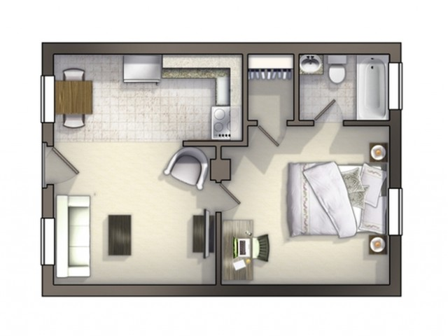A2 Floor Plan | Floor Plan 2 | University Apartments Durham | Apartments In Durham NC