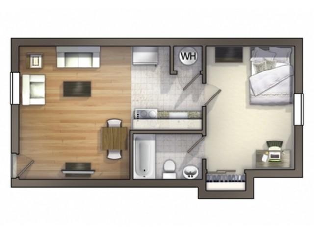 A3D Floor Plan   University Apartments Durham   Apartments In Durham NC