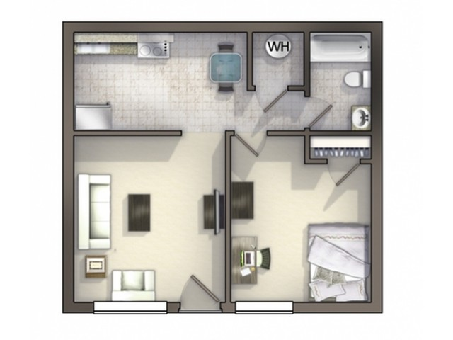 A4 Floor Plan | Floor Plan 4 | University Apartments Durham | Apartments Near Duke University