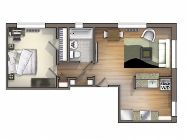 A6 Floor Plan | Floor Plan 6 | University Apartments Durham | Apartments Near Duke University
