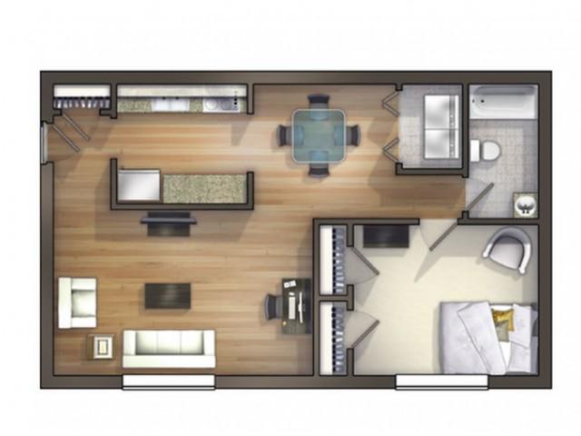A8 Floor Plan | Floor Plan 8 | University Apartments Durham | 1 & 2 Bedroom Apartments In Durham NC