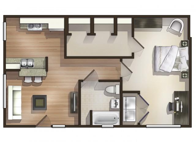 A9 Floor Plan    Floor Plan 9   University Apartments Durham   Apartments Near Duke University