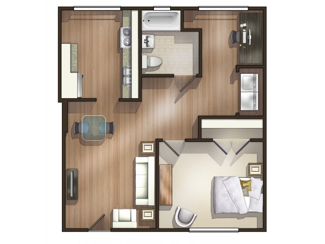 A10 Floor Plan| Floor Plan 10 | University Apartments Durham | Duke Apartments