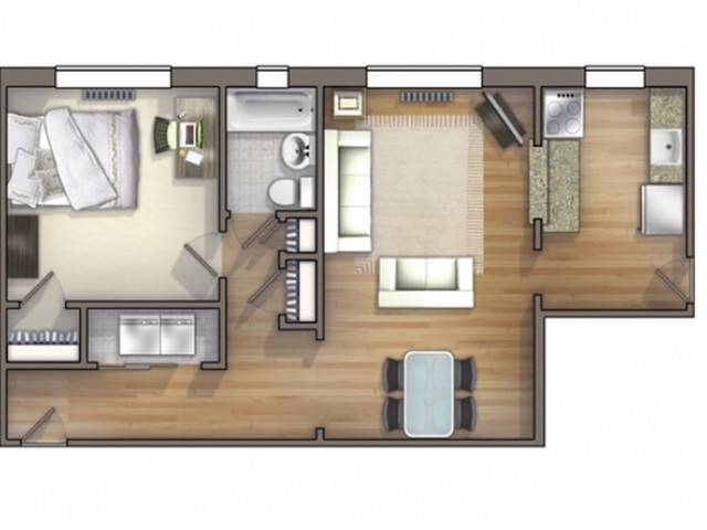 A11 Floor Plan | Floor Plan 11 | University Apartments Durham | Apartments Near Duke University