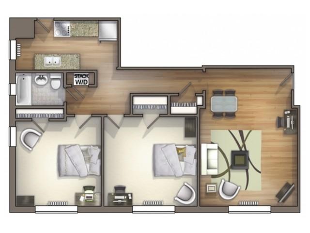 B5 Floor Plan   Floor Plan 15   University Apartments Durham   Duke Apartments