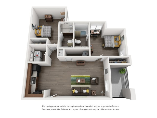 B2 2 Bedroom | The Preserve at Tuscaloosa | Tuscaloosa Apartments