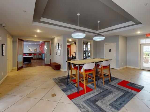 Spacious Resident Club House | The Quarters | Lafayette LA Student Apartments