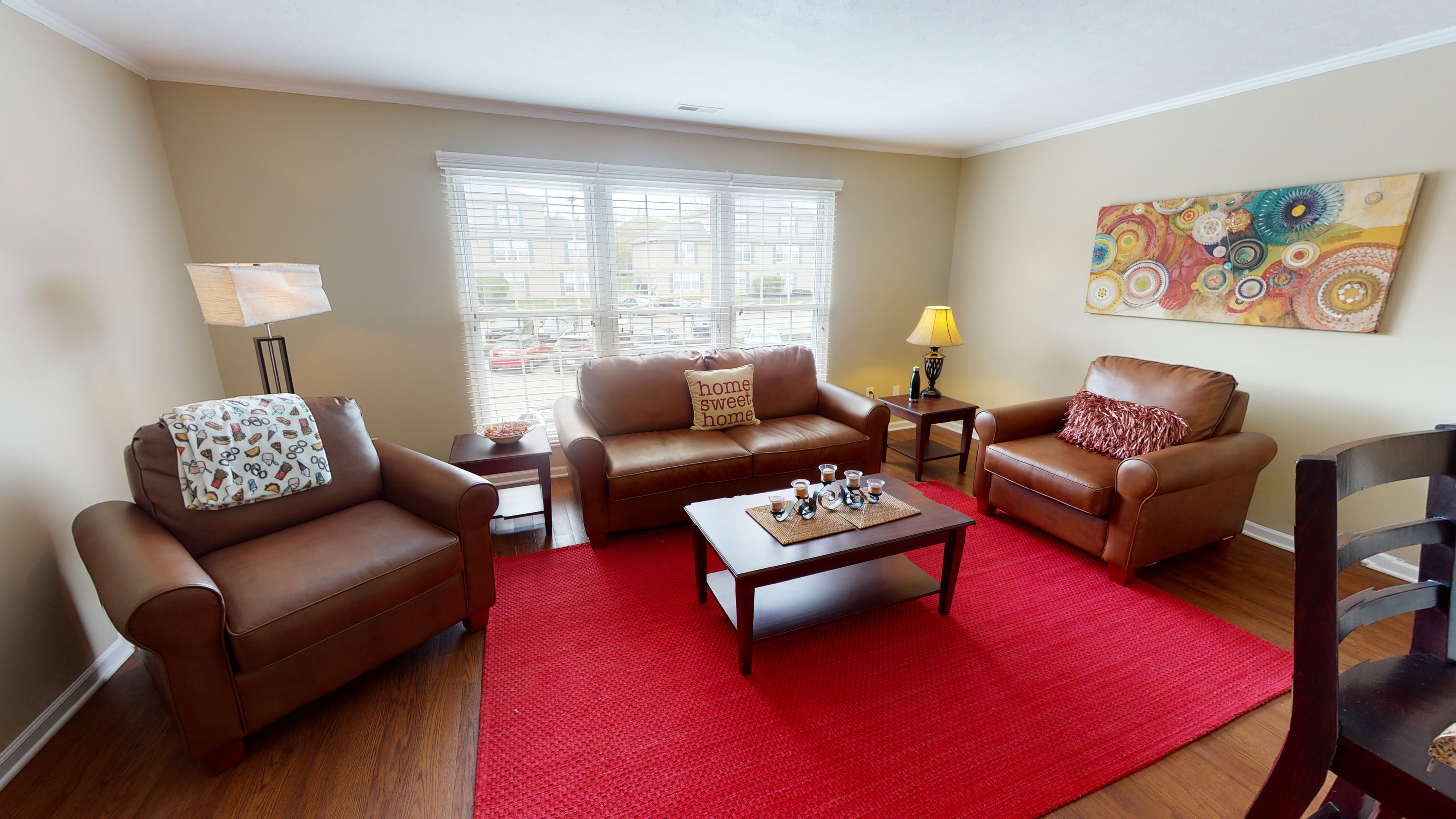Leathre Furniture Package Included   Living Room   The Commons   Miami University Off Campus Housing
