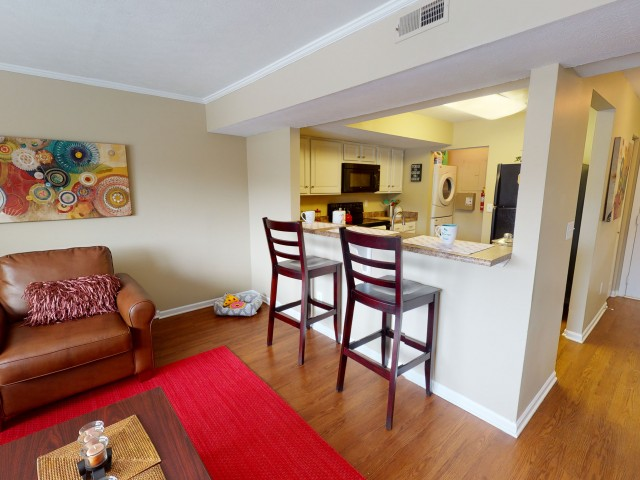 Wood-style Flooring in Common Area   The Commons   Apartments For Rent Oxford OH